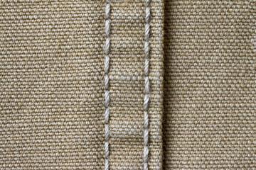 ダック生地の縫い目
