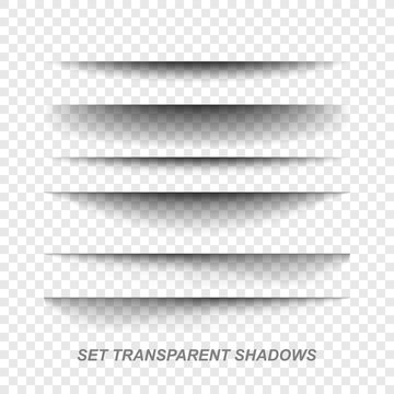 Page divider. Transparent realistic paper shadow effect set. Web banner.