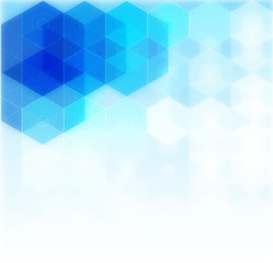 Vector Abstract science Background. Hexagon geometric design. EPS 10.