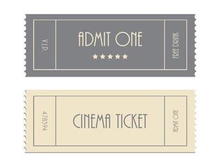 special vector ticket template, admit one, cinema ticket