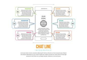 Line Art Smartphone Infographic 3