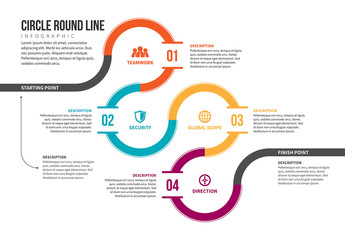 Looped Line Infographic 1