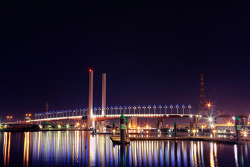 Bolte Bridge at Night and Lights