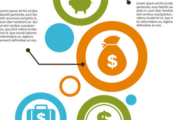 Colorful Financial Infographic