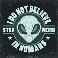 Alien face icon set, humanoid head, vector