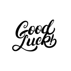 Good luck hand written lettering for congratulation, greeting card, poster.
