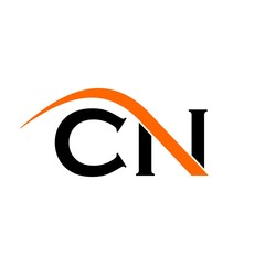 c and n logo vector.