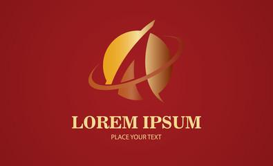 gold letter A loop logo