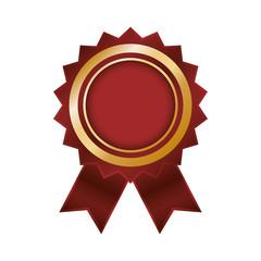Empty award ribbon icon vector illustration graphic design