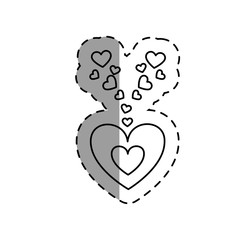 love card with hearts vector illustration design