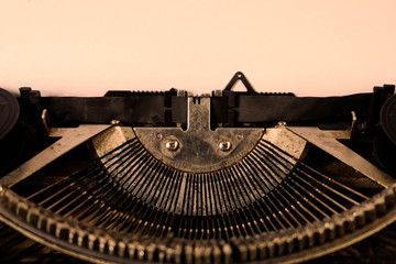 Writers Block typed words on a Vintage Typewriter,space for your text