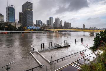 Brisbane River during big flood event