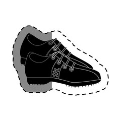 golf shoes isolated icon vector illustration design