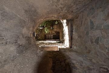 The tunnel in the Corsican village Sant'Antonino