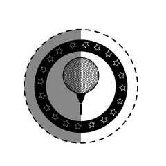 golf sport ball isolated icon vector illustration design