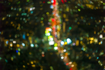 cityscape view at twilight time, Blurred Photo bokeh like a circle