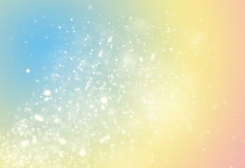 Pastel color glitter sparkles rays lights bokeh Festive Christmas Elegant abstract background.