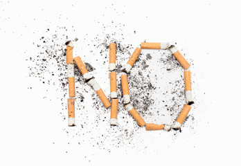 No, of a cigarette butts