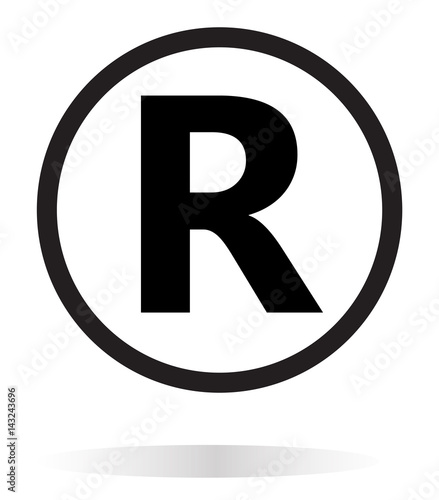 Registered Trademark Icon On White Background Registered Trademark