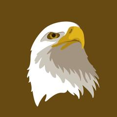 Eagle head vector illustration style Flat