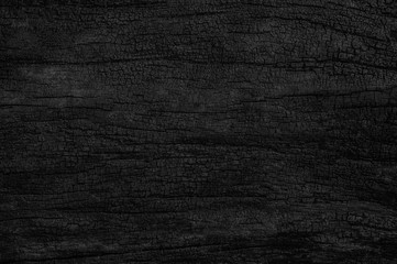 Black grunge background. Burnt wood texture.
