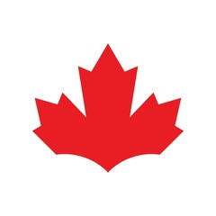 canada maple logo vector.