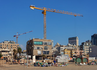 View to the Tel-Aviv from coastline.