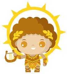 cute tiny apollo god of the sun