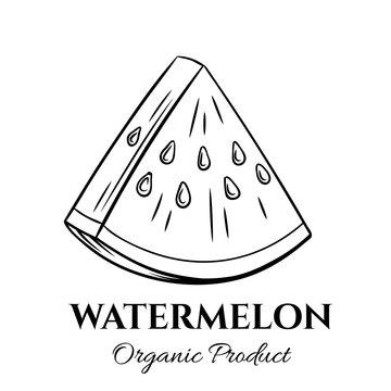 Hand drawn watermelon icon.