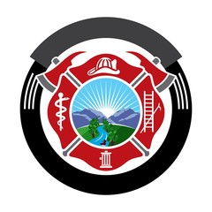 fireman emblem. fire department symbol. logo vector.