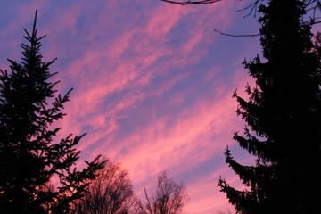 Abendrot am Himmel bei Sonnenuntergang