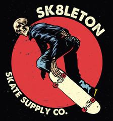 Skull skateboarding