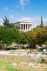 Fototapete - Temple of Hephaestus and Ancient Agora of Athens, Greece