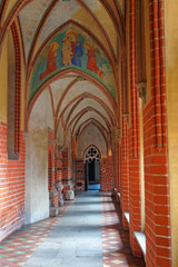 Interior of Malbork Castle Pomerania in Poland