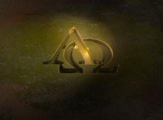 Alpha und Omega - Gold - Prägung