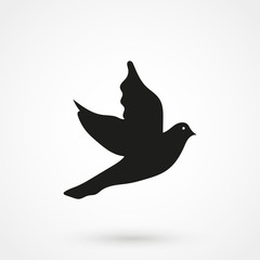 Bird icon silhouette vector illustration