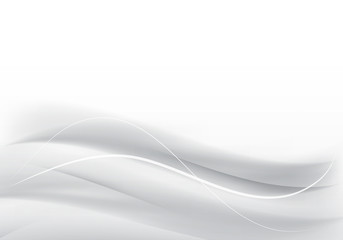 Abstract gray background with wave. Vector illustration.