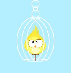 Canary. Cartoon bird Vector illustration eps 10.