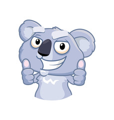 Koala shows thumb