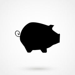 pig Icon isolated on background.