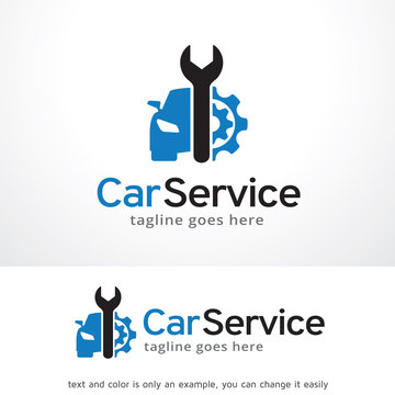 Car Service Logo Template Design Vector, Emblem, Design Concept, Creative Symbol, Icon