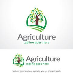 Agriculture Logo Template Design Vector, Emblem, Design Concept, Creative Symbol, Icon