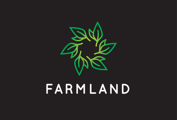 Leaf Logo Template Design Vector, Emblem, Design Concept, Creative Symbol, Icon
