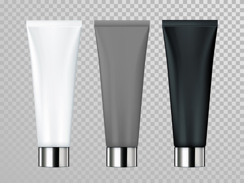 Cream or lotion tube isolated vector skin care cosmetic package template