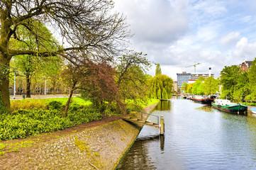 Urban scene in Amsterdam