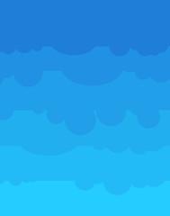 Blue Sky cartoon style. Nature background. stratosphere