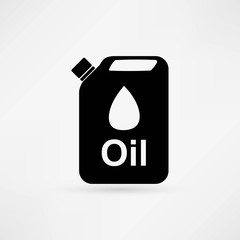 fuel canister. gasoline can vector icon