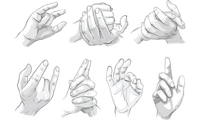 hand action drawing