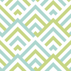 Pattern stripe seamless green two tone and white colors. Chevron stripe abstract background vector.