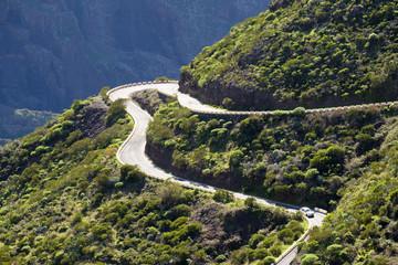 Spain, Canary islands, Tenerife, Teno mountains, mountain road near Masca